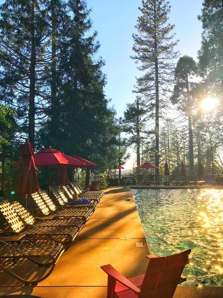The pool at Evergreen Lodge Yosemite. WhereGalsWander
