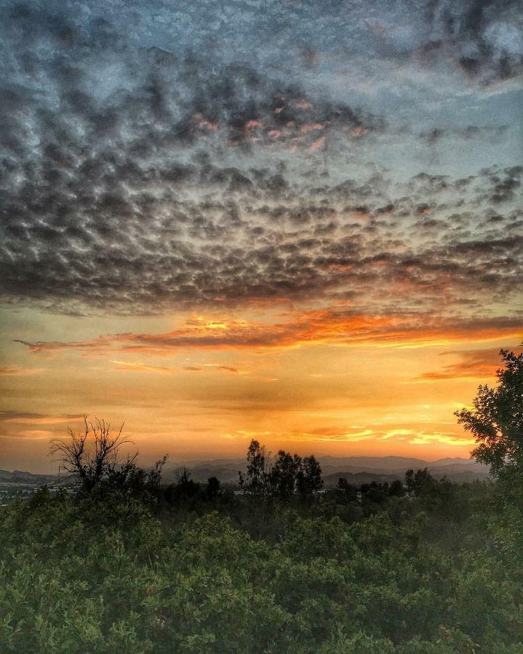 Sunset in Santa Clarita, California (Zanne's backyard) WhereGalsWander