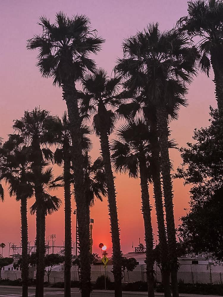 Sunset Ventura Beach, California WhereGalsWander