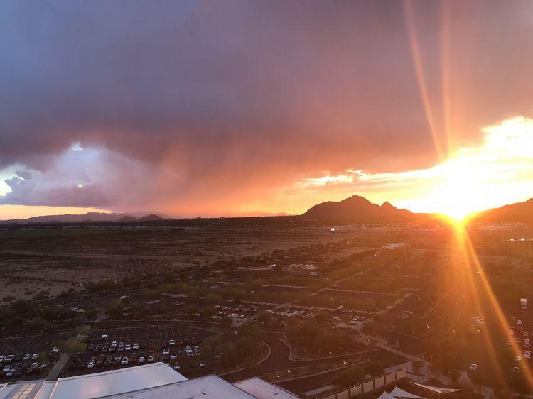 Sunset over Camelback Mountain, Phoenix, Arizona, WhereGalsWander