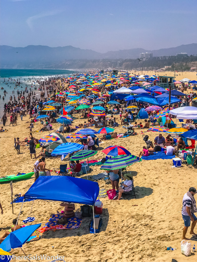 SoCal Beach santa monica beaches crowded summer