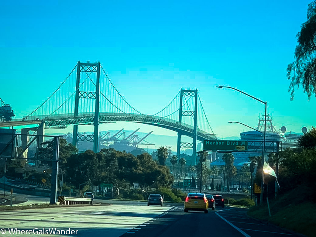 WhereGalsWander Long Beach Bridge Traffic LA Los Angeles Travel Tips Driving