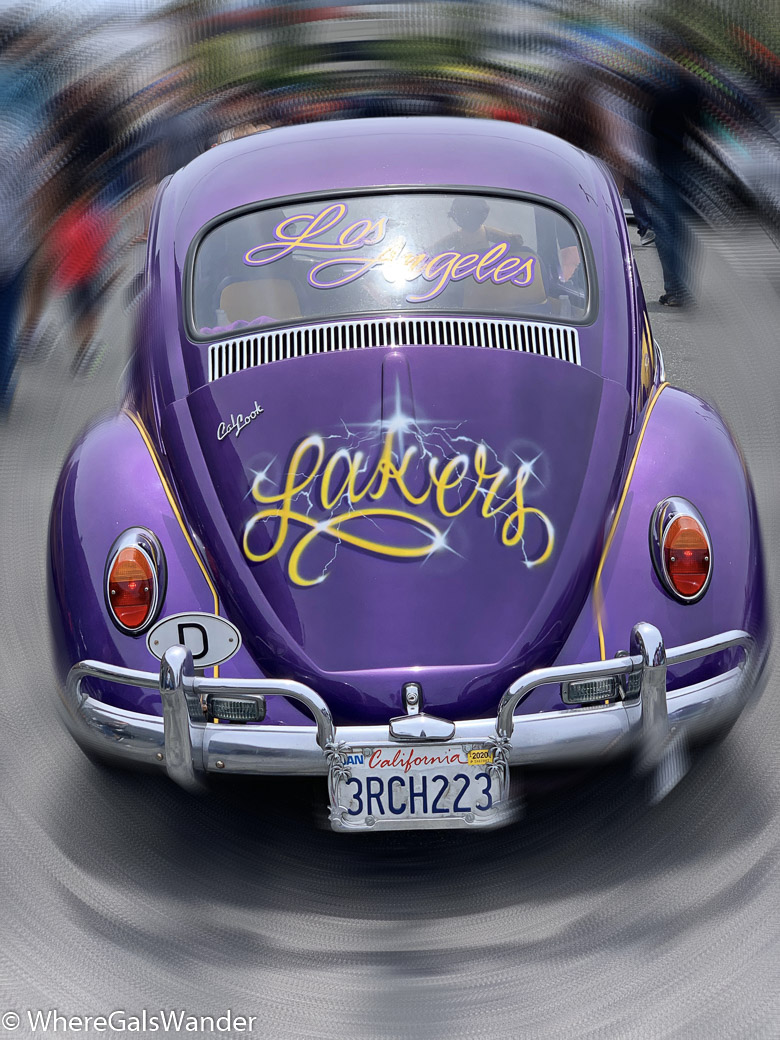 Lakers Los Angeles custom vintage cars WhereGalsWander Hot Wheels sports cars luxury cars