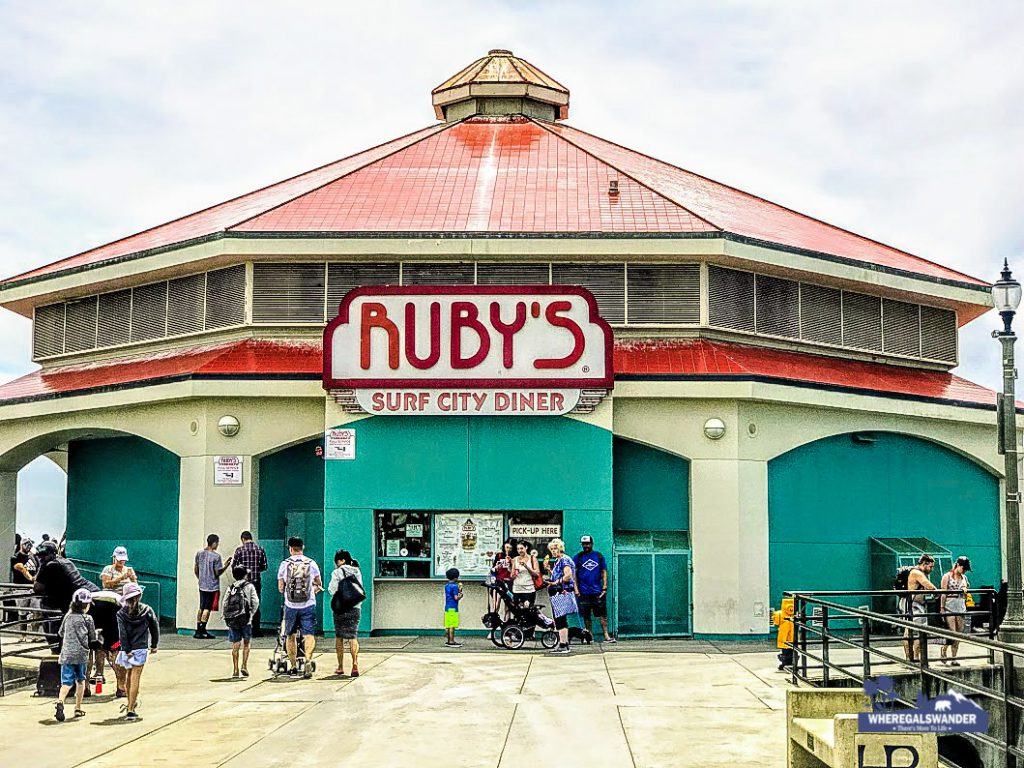 Ruby's Surf  Diner at Huntington Beach