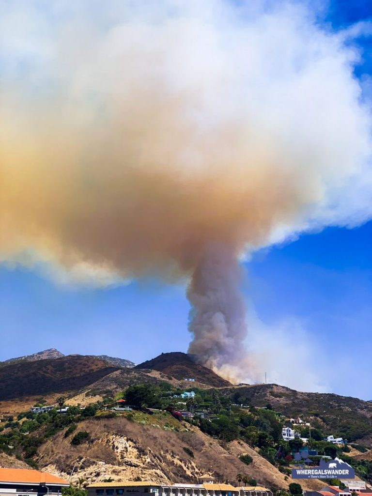 Sweetwater wildfire in Malibu August 30