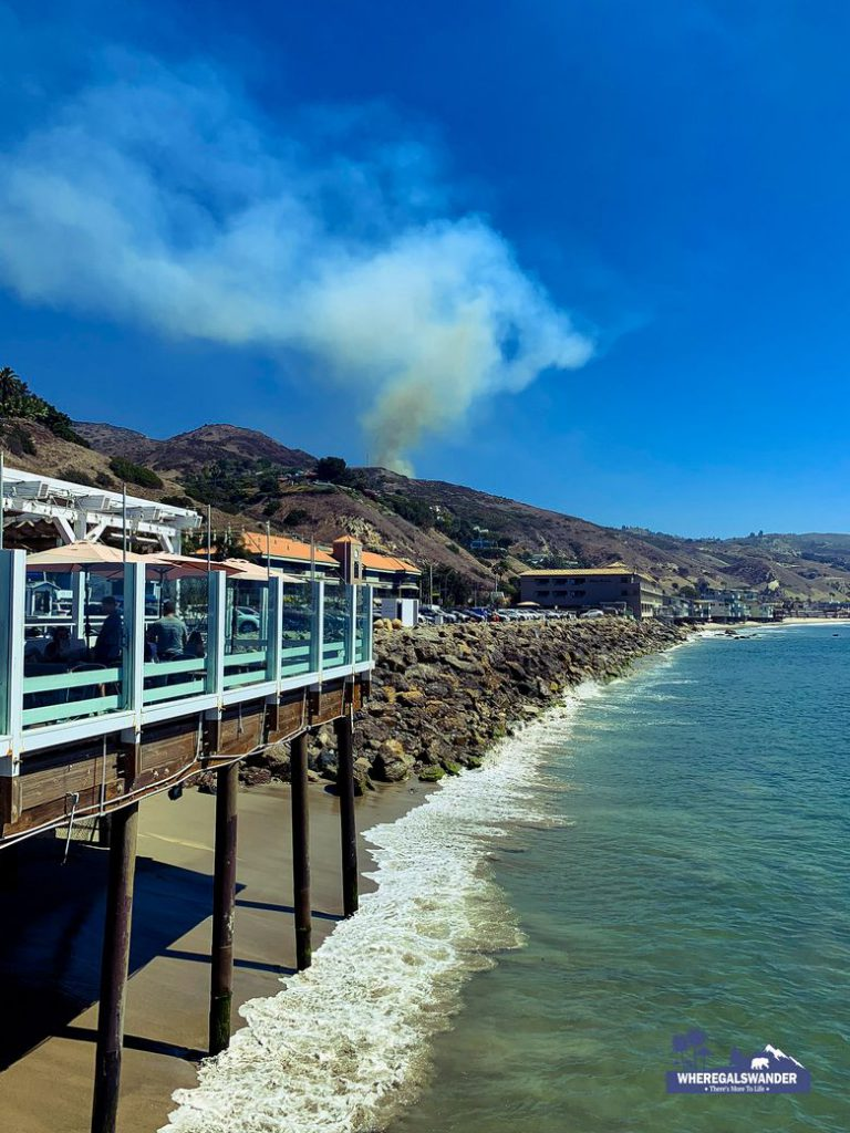 Sweetwater Wildfire August 30 in  Malibu