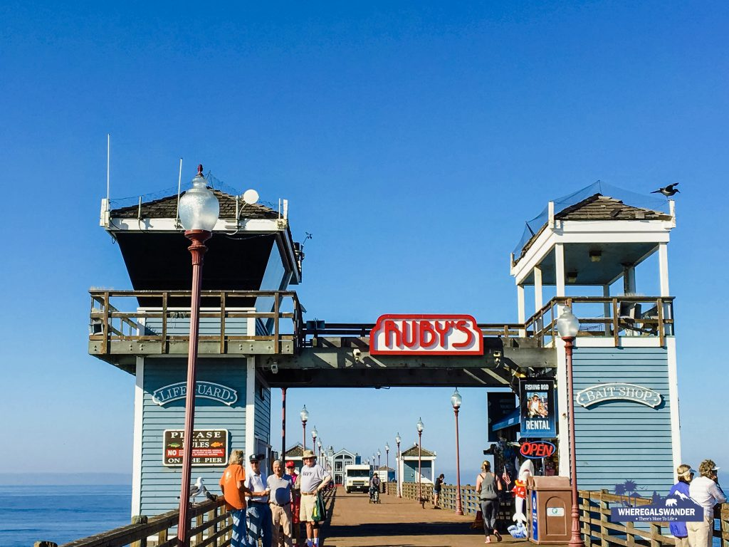 Oceanside Pier is one of my favorite SoCal beach piers. Ruby's restaurant is at the end of this pier