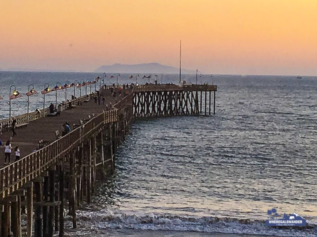 Sunset at Ventura Pier. Channel Islands in background