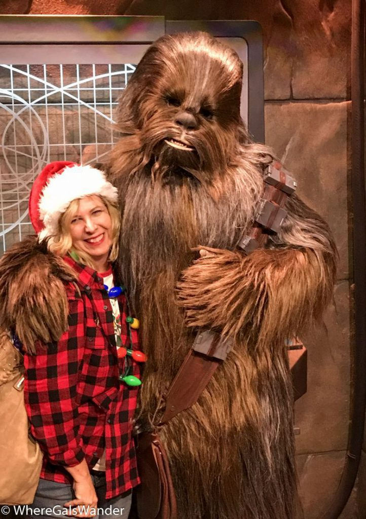 Giving Chewbacca a Christmas Hug
