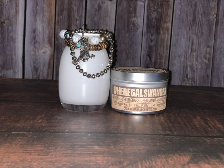 WhereGalsWander candle by CaliforniaHandcrafted.com