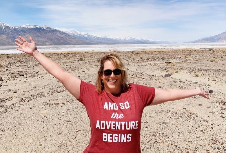 And so the adventure begins Zanne just outside Death Valley National Park WhereGalsWander