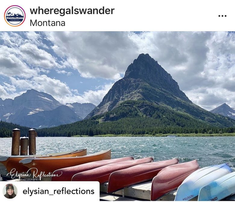 When Glacier National Park reposts your photo, you know its good.  @Elysian_Reflections on Instagram. #WhereGalsWander travel tribe