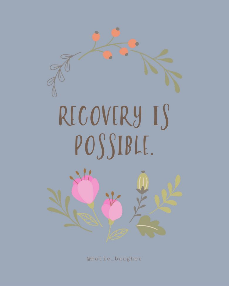Recovery from mental health issues is possible. May is mental health awareness month.