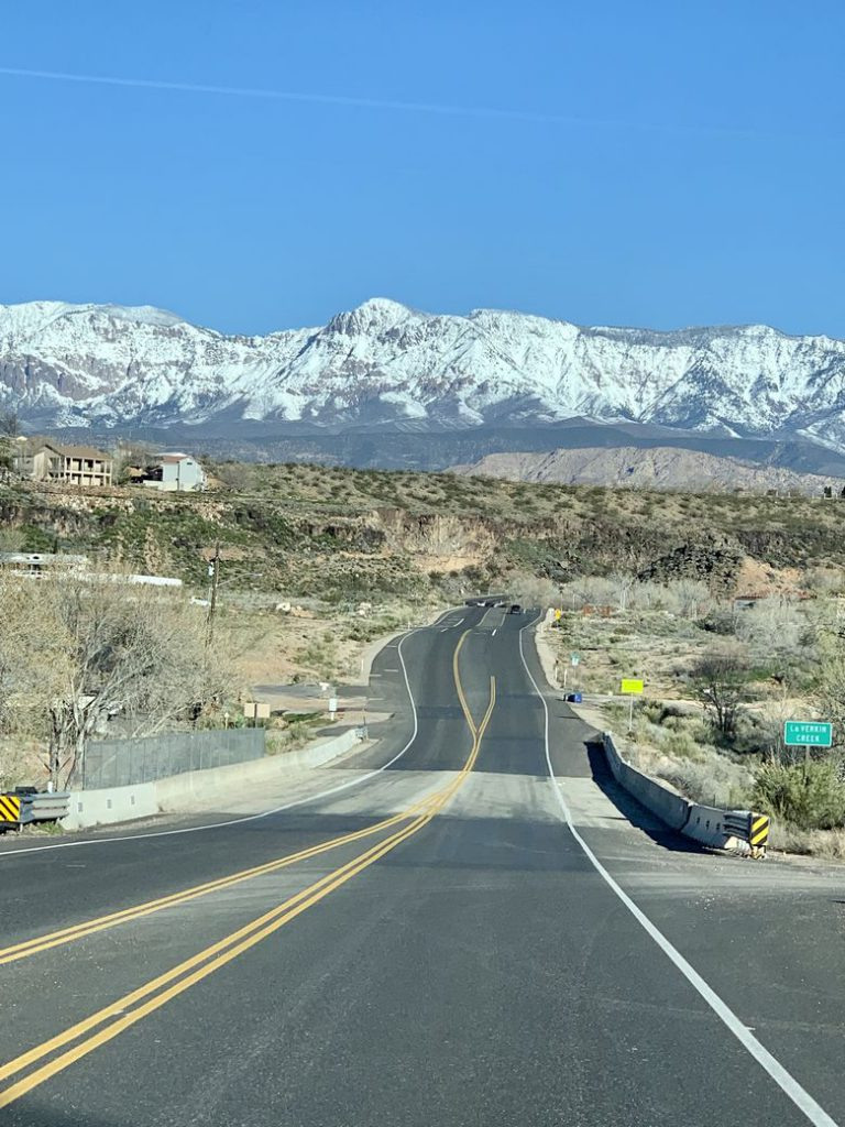 On the road from Hurricane, Utah to Bryce