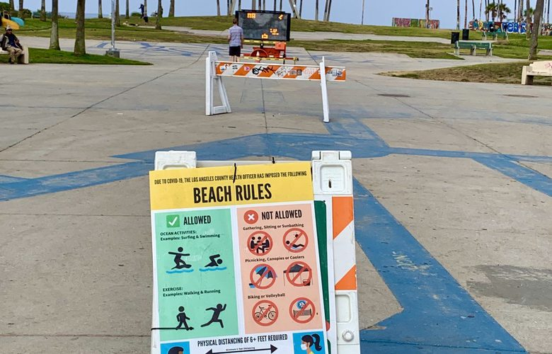 Beaches Closed in California Corona