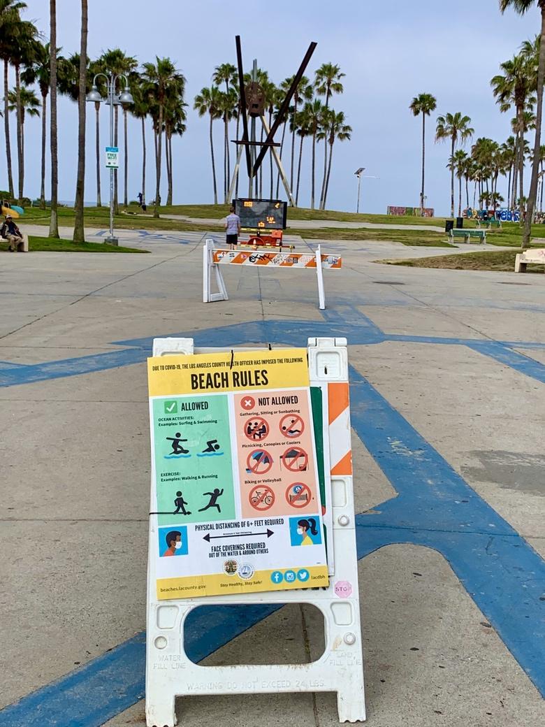Beaches Closed in California Corona