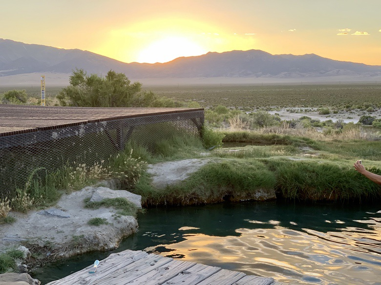 Experiencing my first hot spring