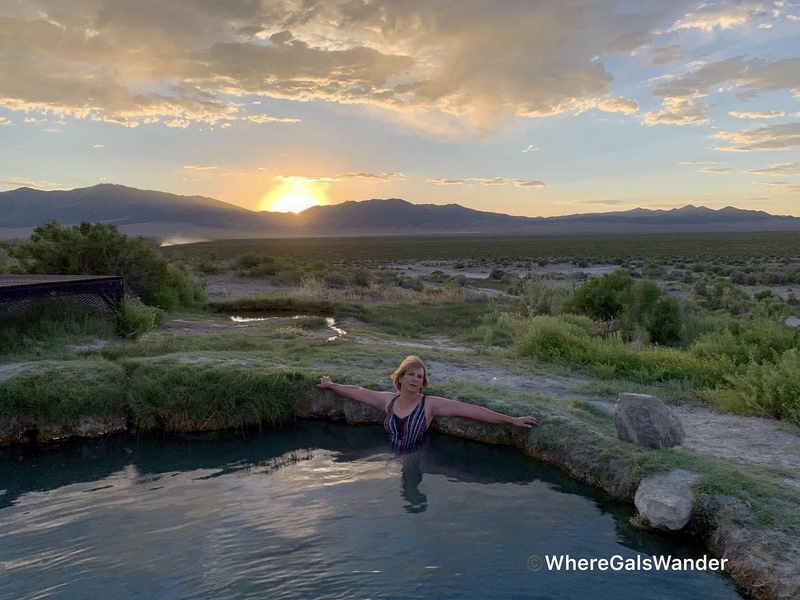 Zanne experiencing her first hot spring