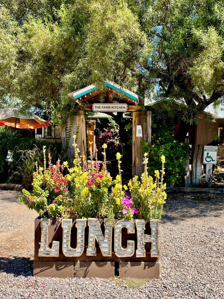 The Farm Restaurant serves lunch